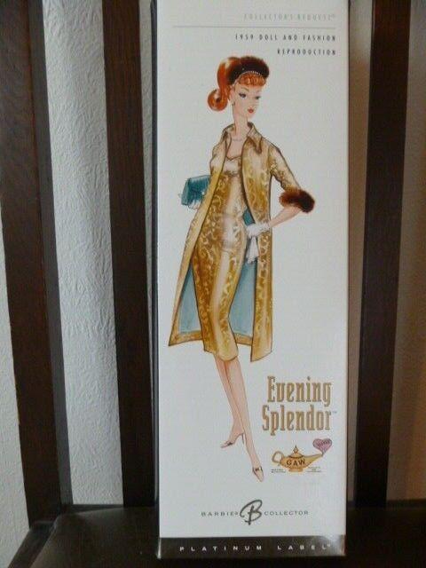 2004 etiqueta Platinum noche esplendor Gaw convención de 14 300 Muñeca Barbie