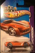 2013 Hot Wheels Showroom 2009 Corvette Stingray Concept Orange 1:64 Diecast MINT