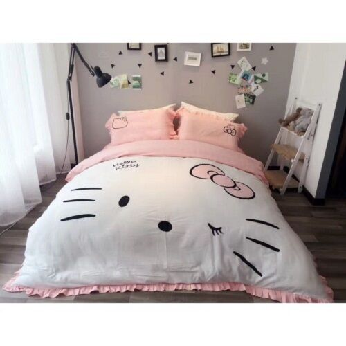Hello Kitty Twin & Queen Dimensione Adorable Duvet Cover Bedding Set Girls Kids