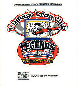 Drag-Racing-NHRA-Sticker-Decal-TV-Tommy-Ivo