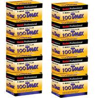 10 Rolls Kodak Tmax 100 Iso Tmx-24 Black & White Negative Print 35mm Film