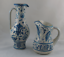 縮圖 1 - Set de 2 Jarras de Ceramica de MANISES Benlloch craquelada.  Años 60 VINTAGE