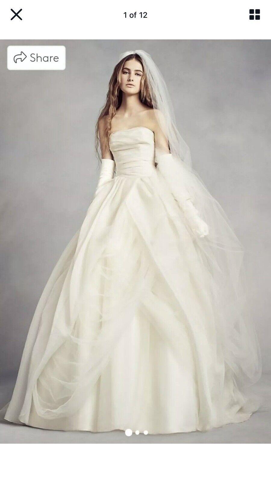 Neuer Vertrag Vera Wang White Collection Brautkleid/Kleid uk18 18 ...