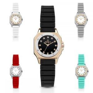 Orologio-Donna-OPS-OBJECT-PARIS-STONES-Silicone-Nero-Rosso-Grigio-Rose-Swarovski