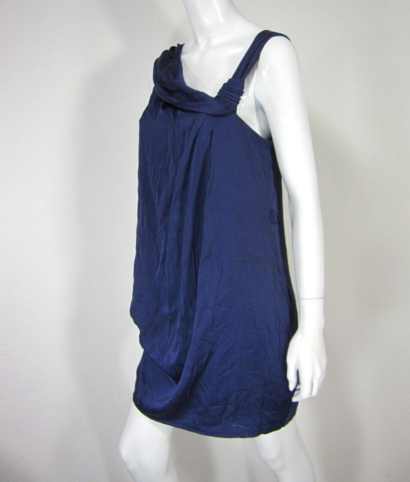 BCBG MAX AZARIA NWT SLEEVELESS DRESS Größe 6 SOLID Blau One Shoulder