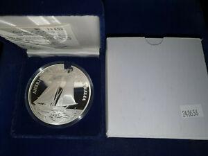 🌟1987 Kon-Tiki Western Samoa .999 Fine Silver 5 oz Proof $25 Coin w/ Box & COA