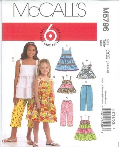OOP McCalls Sewing Pattern Girls Childs 4 6 8 or 9 Great Looks You Pick
