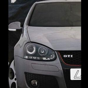 VW-Golf-Mk5-04-09-Black-Halo-Angel-Eye-Projector-LED-Front-Headlights-Lights