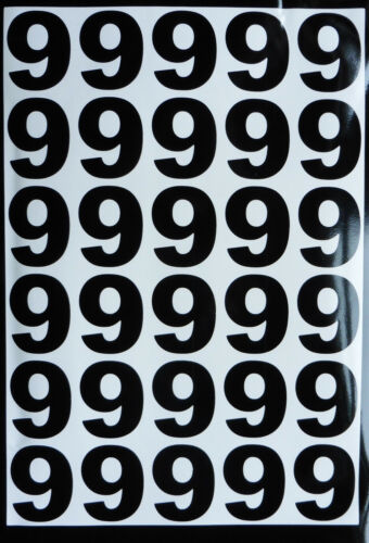 PEEL N STICK LARGE vinyl Numbers sheets stickers weather proof door office home