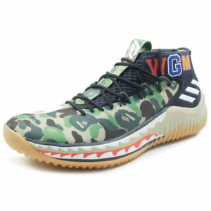 Details about A BATHING APE adidas 18SS DAME 4 BAPE AP 9974 sneaker GREEN US 8.5