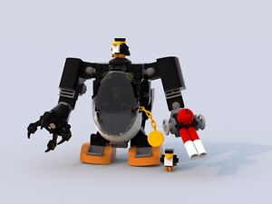 Image Is Loading Custom Lego Batman Movie Penguin Mech Instructions Only