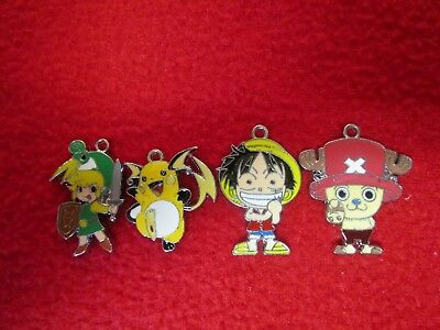Make your Own Jewelry Anime Chopper, Luffy, Zelda Link, Pokemon Raichu