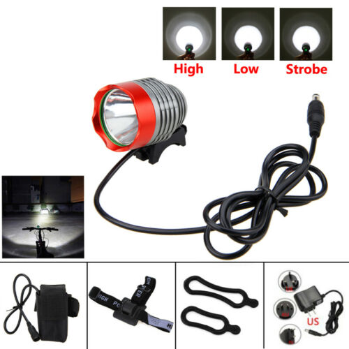 5000Lm XM-L T6 LED Head Front Bicycle Bike Light Lamp Headlamp Battery Charger