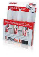 Unika Mitre Bond Superglue x3 50g & Activator Pen Super Glue Bonding Kit