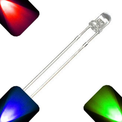 20 x LED 3mm RGB Fast Auto Change Red Green Blue Ultra Bright LEDs Light RC Car
