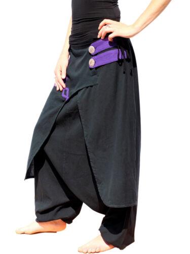 du 36 au 52 SAROUEL CREATEUR Coton NEPAL pantalon vetement ethnique SA04 N//Vio