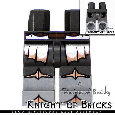 Lego New Hips and Legs with Dark Bluish Gray and Silver Knee Pads Pants