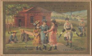 Victorian Trade Card-Henderson's School Shoe-Kendallville, IN-Kids at School