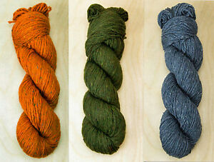 Knit-One-Crochet-Too-K1C2-Allagash-100g-Hank-Wool-Blend-Yarn-Color-Choice-Knit