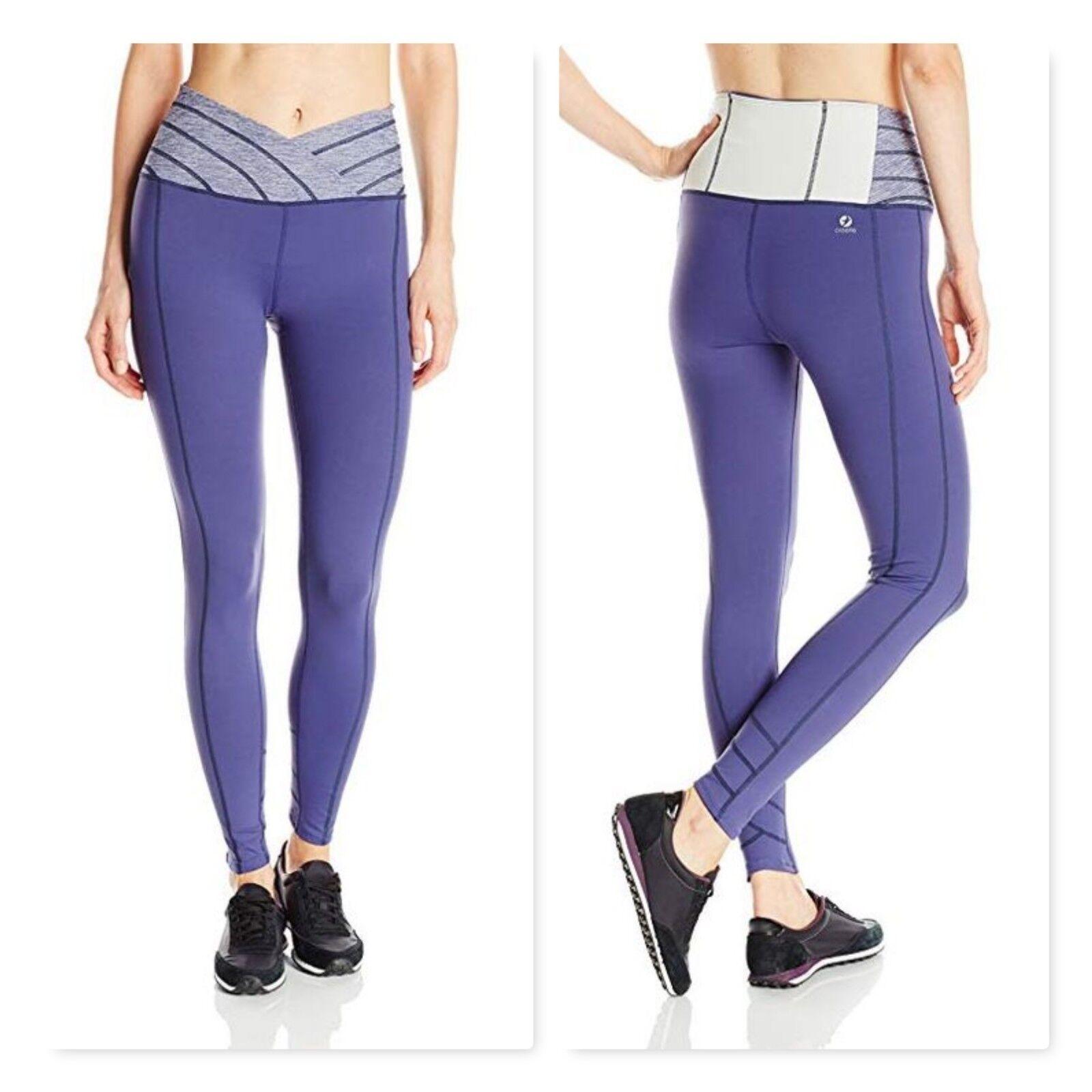 Oiselle Meter Tights workout pants satellite purple high waist sz 4