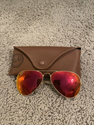 Women's Polarized Red Rayban Aviators - image 1