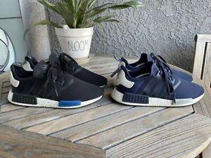 2016 Adidas NMD R1 Core Black Mesh Tokyo (S79162) & Navy (S79161) Men's Size 12