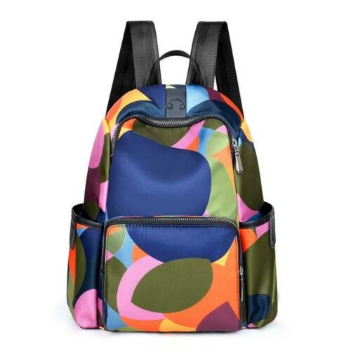 Women Waterproof Oxford Cloth Travel Backpack Nylon Anti-theft Shoulder Backpack
