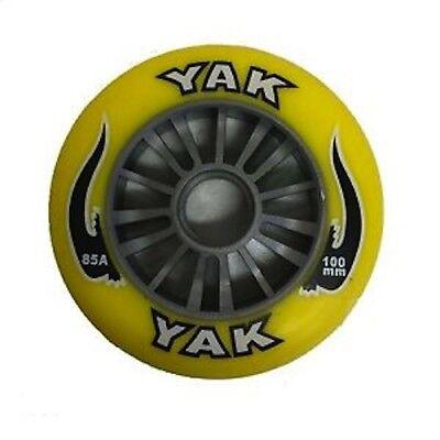 SILVER // YELLOW Razor Madd Gear Plastic Core 100mm YAK Scooter Wheel