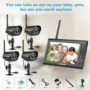 HD-Outdoor-Digital-Wireless-DVR-2-3-4-CCTV-camera-System-7-034-LCD-monitor-Record