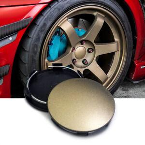 67mm//62mm Car Wheel Center Caps Hubcaps Set of 4 Matt Black ABS for Volk Racing Wheels