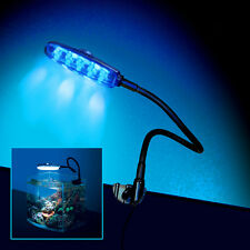 Moisture Resistant LED Aquarium Fish Tank Clip on Clamp Moon Light DEEP SEA BLUE