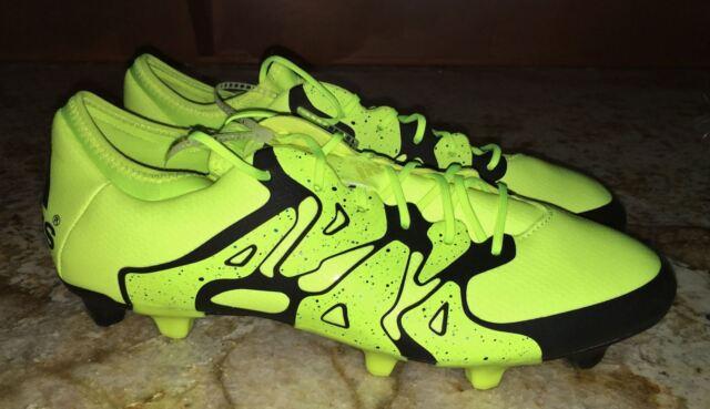 official photos b7855 7fe9f ADIDAS X 15.1 FG AG Solar Yellow Black Soccer Cleats Mens 8 8.5 9.5 10 10.5