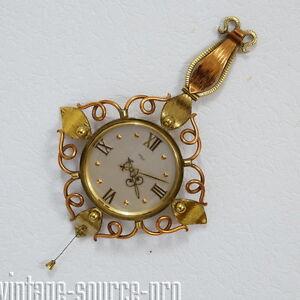 seltene-Imhof-Kupfer-Messing-8-Tage-Wanduhr-Mechanisch-15-Jewels-50er-J-Swiss