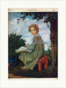 Discipliné Page De Titre Du Numéro 21 De 1906 Ludwig Ritter Von Zumbusch Jeunesse 3540-afficher Le Titre D'origine Convient Aux Hommes, Femmes Et Enfants