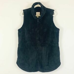 Tommy-Bahama-Plush-Fleece-Black-Full-Zip-Vest-Women-039-s-Size-Medium-NWT-125