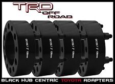 "4Pc Toyota 2"" 51 MM Thick Hub Centric Wheel Spacers Tacoma Tundra 4 Runner Black"