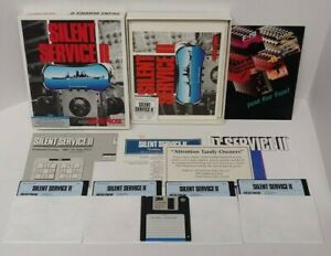 """Silent Service II IBM DOS PC Big Box 5.25"""" Disks Complete Rare Working Game"""
