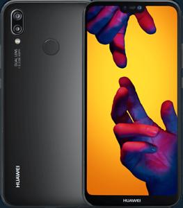 HUAWEI-P20-LITE-BLACK-Nero-5-8-034-4GB-RAM-64GB-ROM-BRAND-pellicola-vetro-FODERO