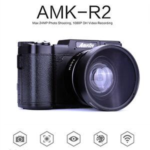 AMKOV-AMK-R2-24MP-1080P-HD-Digitale-SLR-DSLR-Kamera-4X-Zoom-Weitwinkelobjektiv