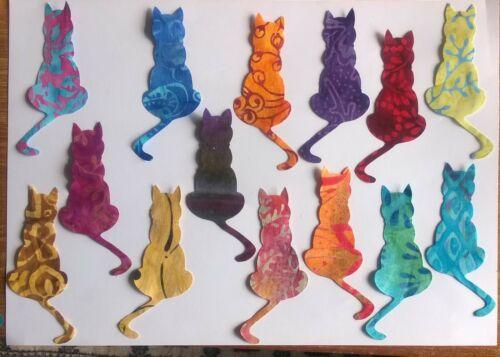 Batik Tranquil Kitten Cats fabric Pack remnants patchwork bundle 100/%cotton
