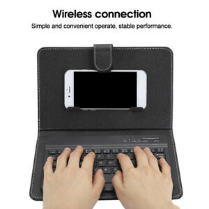 Mini-Wireless-Bluetooth-3-0-Keyboard-W-Leather-Cover-For-4-5-034-6-8-034-Android-iOS