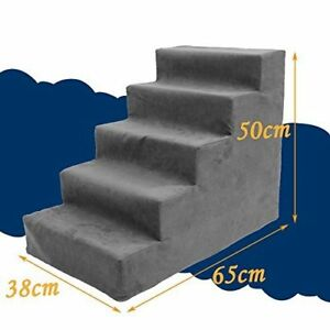 Image Is Loading Grey 5 Steps Pet Stairs Ramp Ladder High