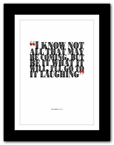 HERMAN MELVILLE Moby-Dick typography book quote poster print inspirational #115