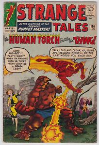 Strange-Tales-116-VG-4-0-Human-Torch-Thing-Dr-Strange-Steve-Ditko-Art