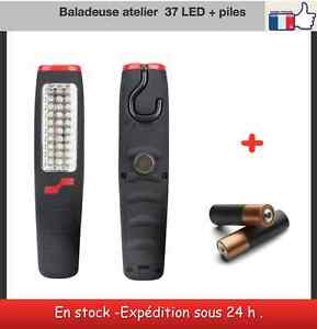 baladeuse lampe atelier garage maison 37 led 3 piles ebay. Black Bedroom Furniture Sets. Home Design Ideas