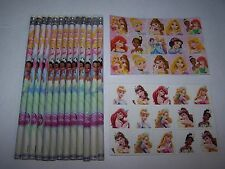 SALE!~DISNEY PRINCESS~Party Favor Bag Fillers~Lot of 12~Pencils+Stickers+Tattoos