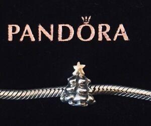Pandora Sterling Silver 14k Gold Christmas Tree Bead Charm ...