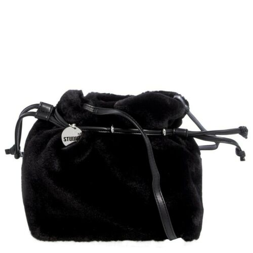 Details about  /NWT Studio 33 Crossbody Plush Fur Drawstring Crossbody Shoulder Bag