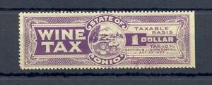 USA 1933 OHIO - $1 WINE TAX REVENUE - USED VF
