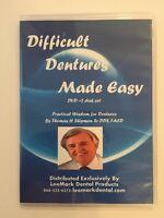 Difficult Dentures Made Easy 2 Disk Set Thomas H Shipmon Sr. Dds, Facd